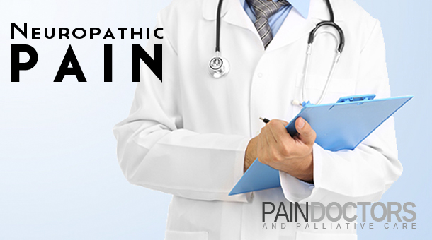 Neuropathic pain is caused by a problem with one or more nerves themselves. The function of the nerve is affected in a way that it sends pain messages to the brain. Neuropathic pain is often described as burning, stabbing, shooting, aching, or like an electric shock.